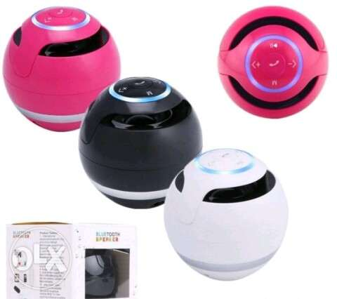 GS009 Portable wireless Bluetooth speaker round white / black