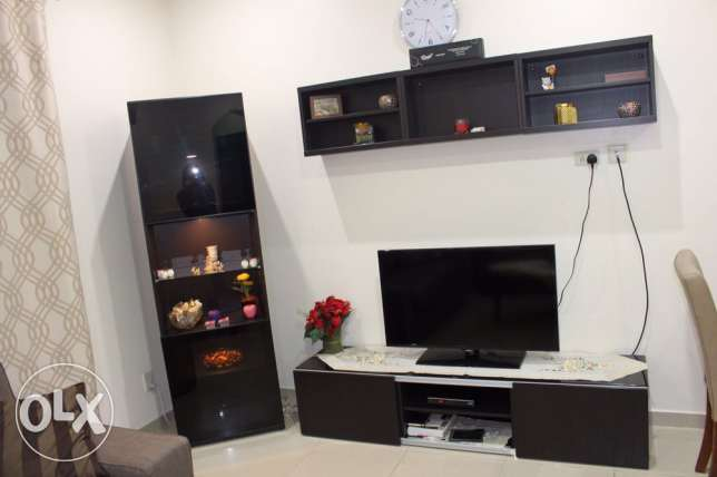 TV rack , and bookcase total 3 pcs .