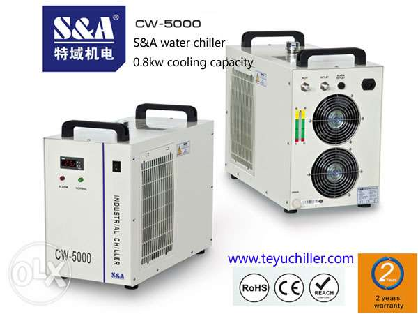 S&A compact laser chiller for visual orientation tour edge laser cutti