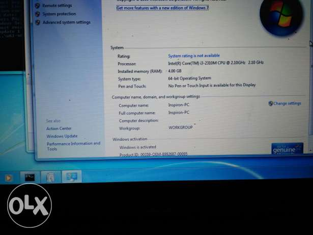 Dell Inspiron 5110 - core i3 - 500Gb HDD - 4 Gb Ram