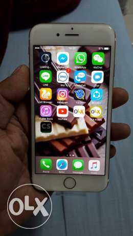 iphone 6s rose gold 64gb sale or exchange with iphone 6s plus or ip7 الرياض -  2