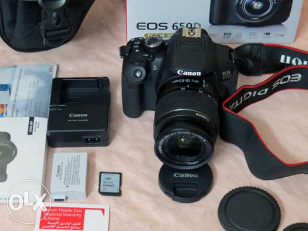 Camera Canon EOS 650D 18-55 kit touch LCD for sale