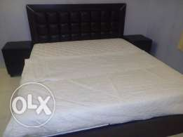Homecentre Bed + 2 side tables+cupord+soft dreams branded matress