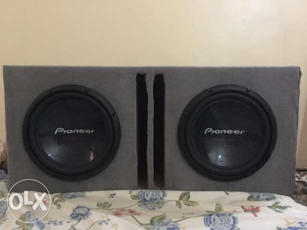 Pioneer 2 Woofer double coil 12 inch 1400W + 1400w=2800w for(car)Cheap