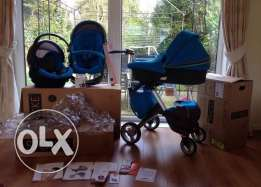 Stokke xplory V4 newborn 3 in 1 with carrycot & car seat