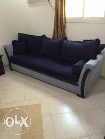 Very Decent Sofa Set blue colour (8 Seater) with Center table