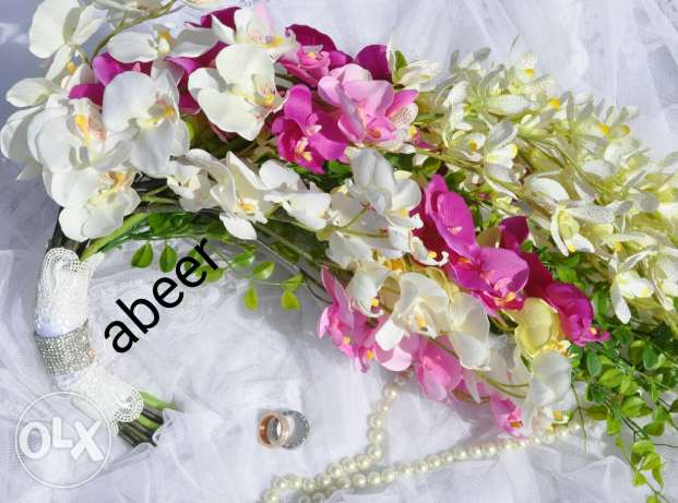 Hand made flower bouquets and accessories