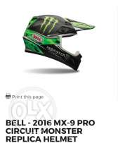 Bell motocross helmet (monster energy)