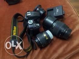 Nikon d3300 with 2lenses + ultra wide and macro lence with all accesso