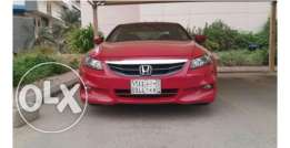 Honda accord coupe, red color