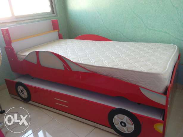 Two floor car shaped bed