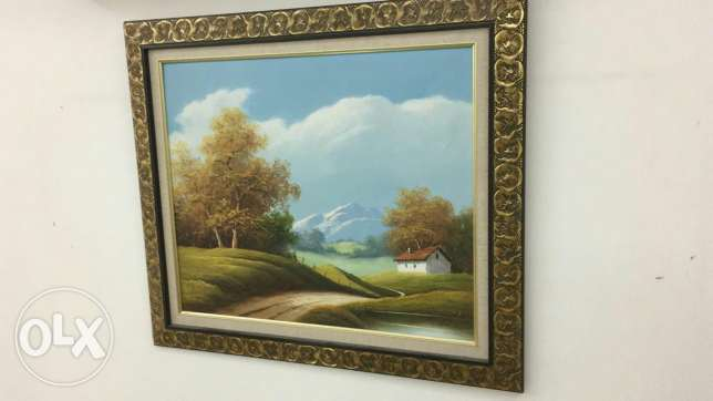 Wall oil painting
