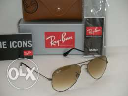 Rayabn Aviator 3025 4/51 Brown size 58 100% ORIGINAL NEW