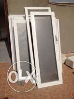glass window different sizes, with frames and thick glass