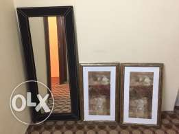 mirror and 2 decor draws