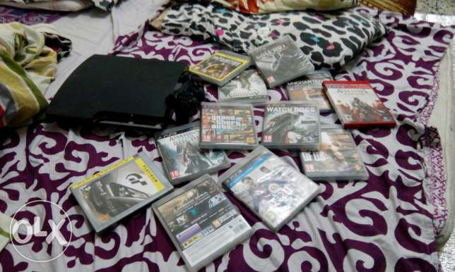 Ps3 with games and consoles