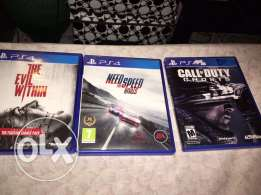 4 CDs for play station 4