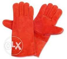Welding gloves 16 inches Red