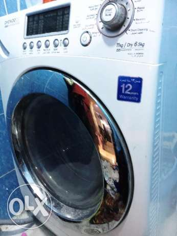 Daewoo Washing Machine Front Load 11KG.washer & Dryer o few months use