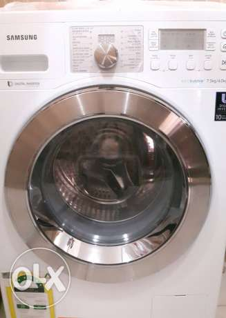 Washing machine Samsung-7.5kg + 4kg dryer with Ecco bubbles system