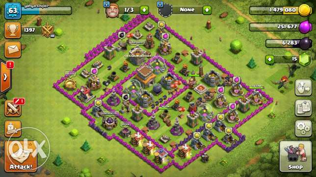 Clash of clans account th 8