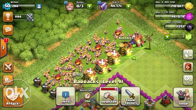 clash of clans town hall 9 الرياض -  2