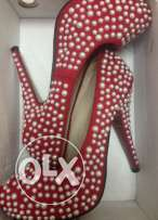 Shoes Size 40 high heels red colour