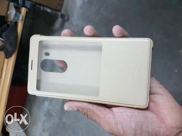 Huawei mate 8 flip cover gold colour