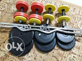 Dumbbel,tools and weights for bodybuilding for sale