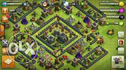 town 9 max clash of clans