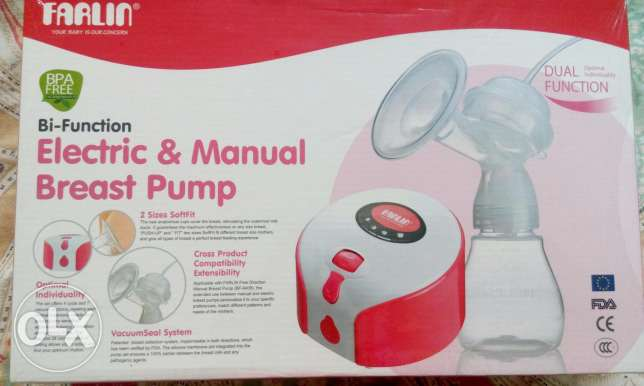 Farlin electric and manual breast pump 2 in 1