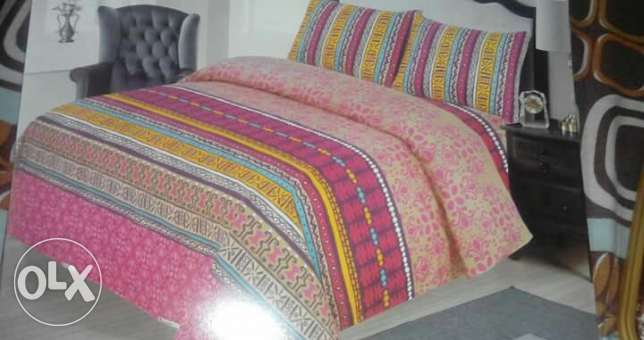 Best quality pakistani 100% cotton,king size bedsheets+2 pillow covers