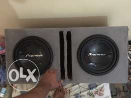 Pioneer double powered 2 woofer 12inch 1400W + 1400w = 2800w for (car)