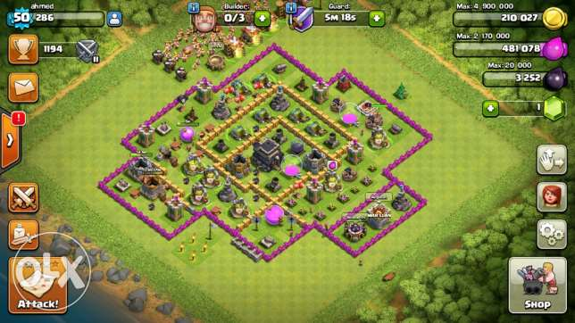 clash of clans town hall 9 الرياض -  3
