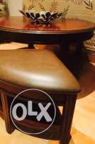 living room table and leather chairs for sale