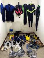 Diving Equipment and Fishing items