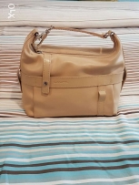 Lancel cream leather bag