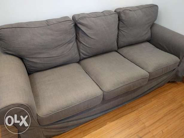 Three-seat sofa (EKTORP nordvalla dark grey) الرياض -  2