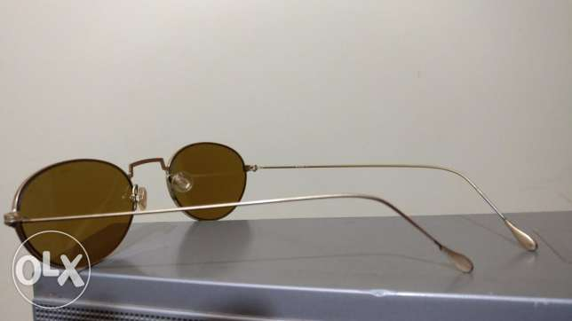 brown lens, gold plated frame ,Original German Sunglasses