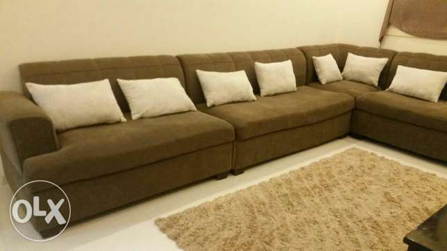 Home center L shape sofa set