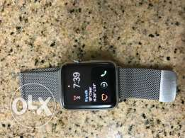 Apple Watch 42mm Stainless Steel with Milanese Loop + 1 Extra Band