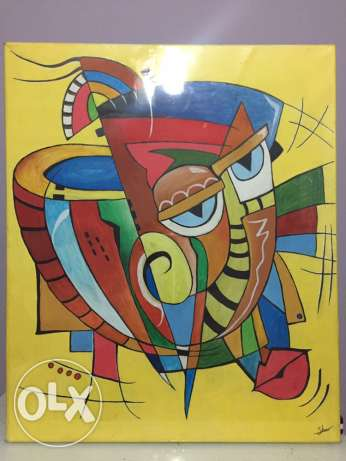 cubism art hand painting