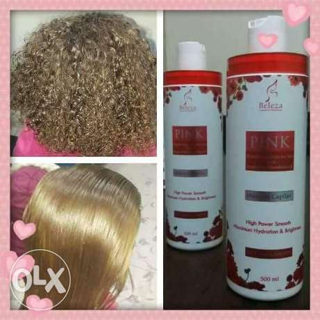 Pink protein for hair treatment