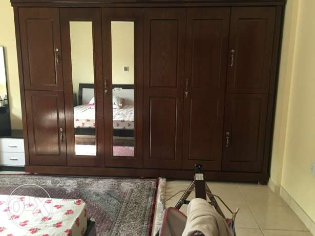 Bed room set with wardrobe