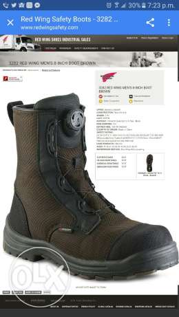حذاء سيفتي جديد redwing (waterproof)