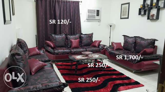 Dinning Tables, Sofa sets, Curtains, Shelf, Divider, Carpets
