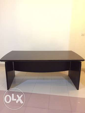 Office Desk - Dark Brown Wood