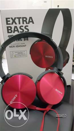 New Sony headphones with mic and extra bass...