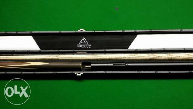 """CUESOUL 57"""" Handcraft 3/4 Jointed Snooker Cue Set -Rosewood Butt الرياض -  6"""