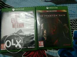 Metal Gear phantom pain XboxOne, Evil Within for sale or exchange